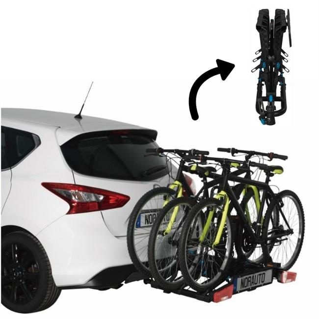 Porte-vélos D´attelage Plate-forme Norauto Rapidbike 3p Flex Pour 3 Vélos