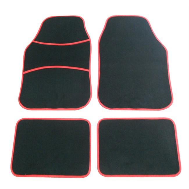 4 tapis de voiture universels moquette costan rouges. Black Bedroom Furniture Sets. Home Design Ideas