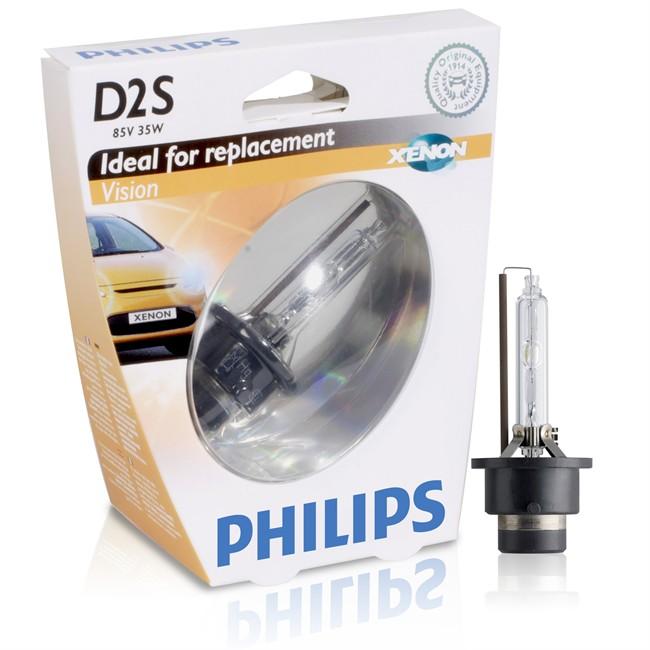 1 Ampoule Xenon Philips D2s Vision 35 W 85 W