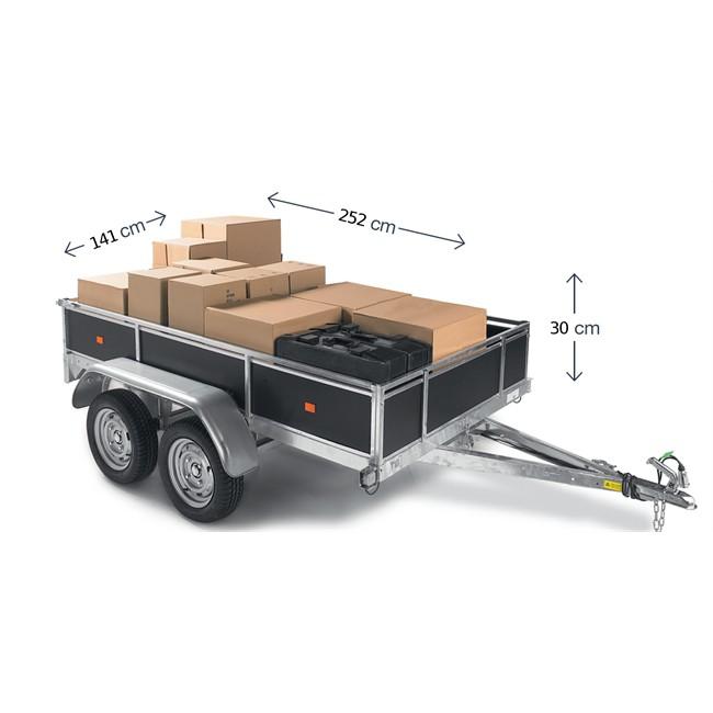 remorque bois 2 essieux 500 kg. Black Bedroom Furniture Sets. Home Design Ideas