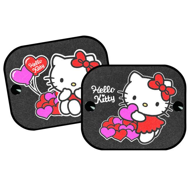 2 Rideaux Pare-soleil À Ventouses Hello Kitty 44 X 36 Cm