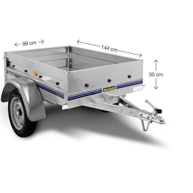 remorque 500 kg norauto nor 1500. Black Bedroom Furniture Sets. Home Design Ideas