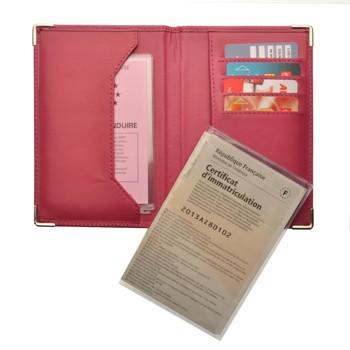 1 porte papiers voiture colorpop violet et rose cuir lisse. Black Bedroom Furniture Sets. Home Design Ideas