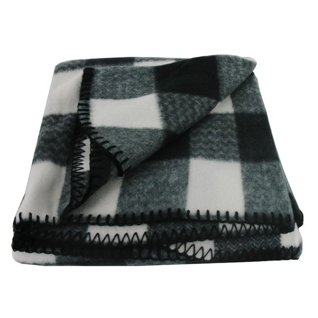 plaid polaire damier gris et blanc norauto. Black Bedroom Furniture Sets. Home Design Ideas