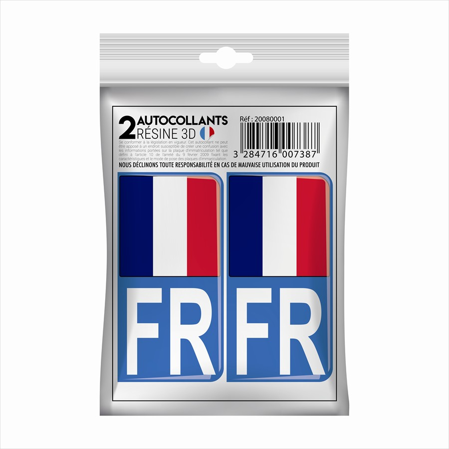 2 stickers en 3D CADOX France