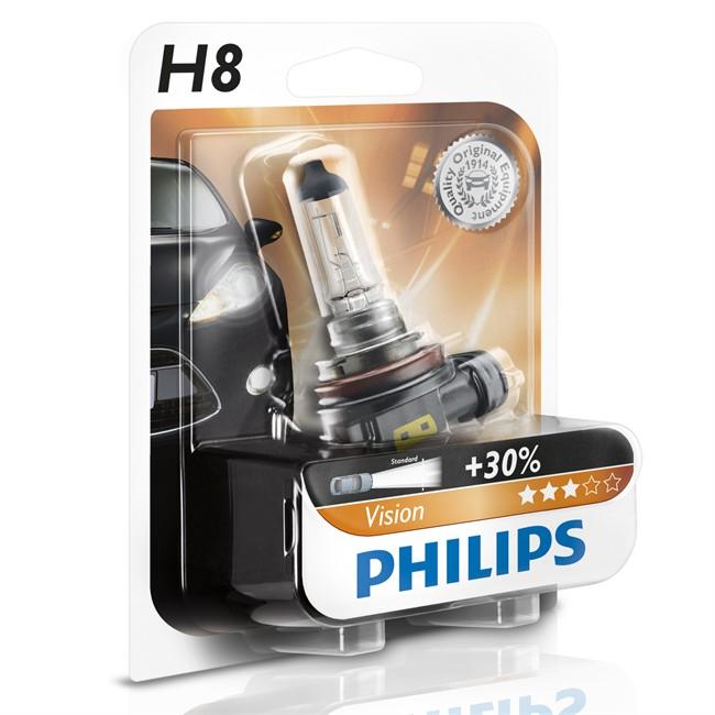1 Ampoule Philips H8 Vision 35 W 12 V