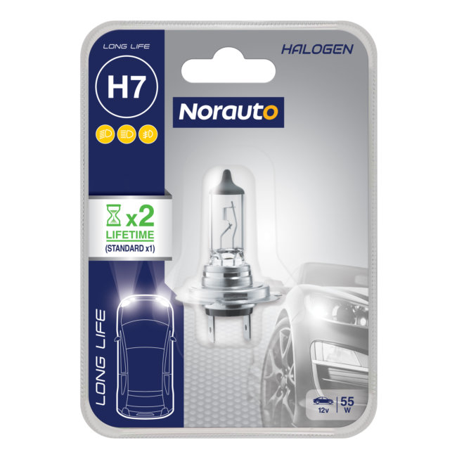 1 Ampoule H7 Norauto Longlife
