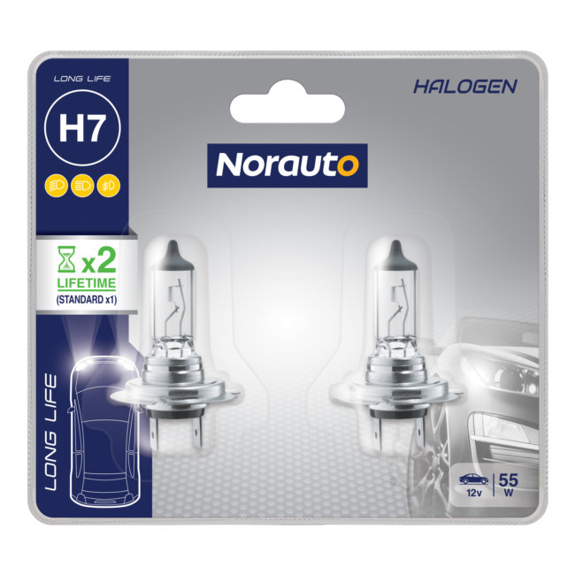 2 Ampoules H7 Norauto Longlife