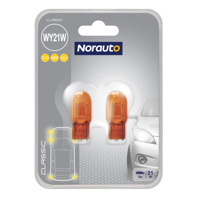 2 Ampoules Wy21w Norauto Classic