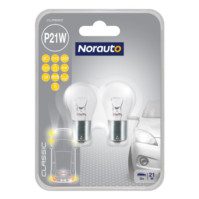 2 Ampoules P21w Norauto Classic