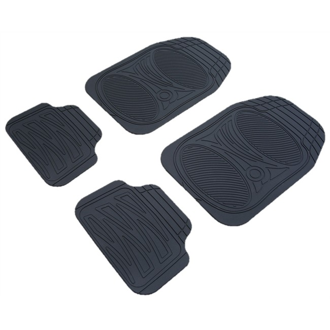 4 tapis de voiture universels en pvc customagic finlande noir. Black Bedroom Furniture Sets. Home Design Ideas