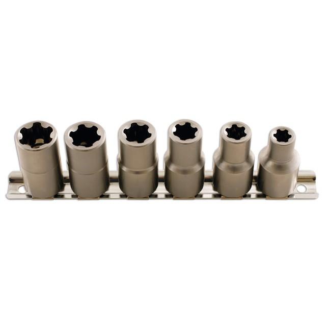 6 Douilles Ribe 10-20 Mm Carré 1/2'' Laser 5150