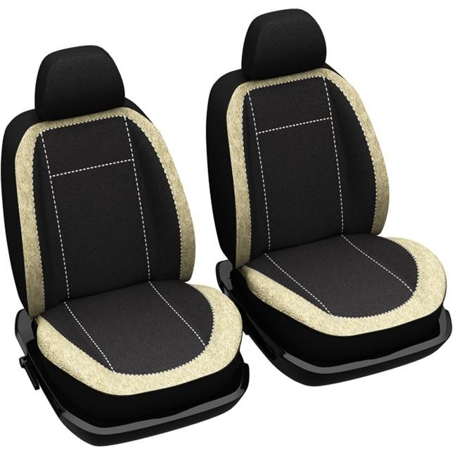 jeu de housses universelles voiture si ges avant norauto madrid noires et beiges. Black Bedroom Furniture Sets. Home Design Ideas