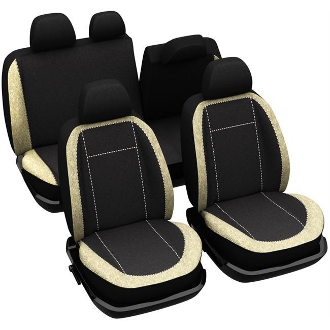 jeu complet de housses universelles voiture sp cial 4x4 suv norauto madrid noires et beiges. Black Bedroom Furniture Sets. Home Design Ideas