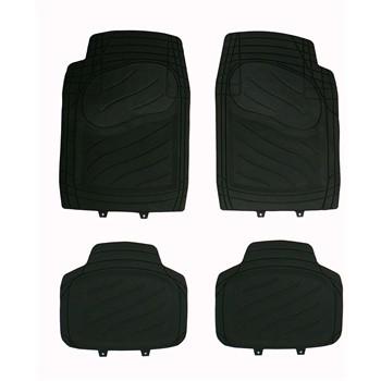 4 tapis de voiture universels en pvc norauto noir. Black Bedroom Furniture Sets. Home Design Ideas