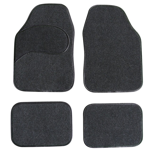 4 tapis de voiture universels moquette 1er prix confiance noirs. Black Bedroom Furniture Sets. Home Design Ideas