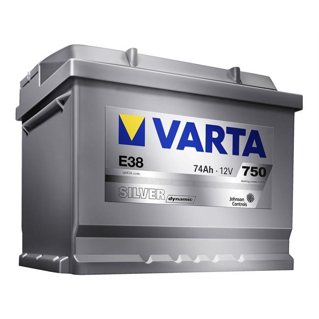batterie varta e38 silver dynamic 74 ah 750 a. Black Bedroom Furniture Sets. Home Design Ideas