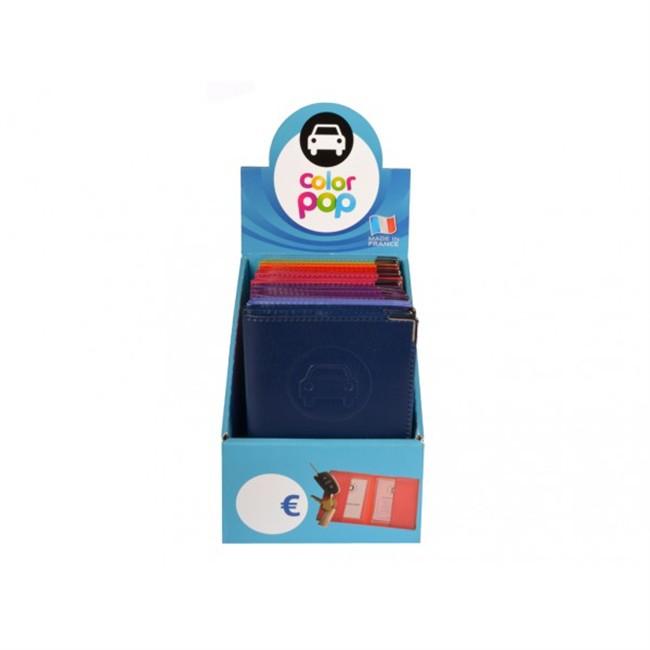 1 Porte Papiers Voiture Colorpop Coloris Aléatoires Pvc