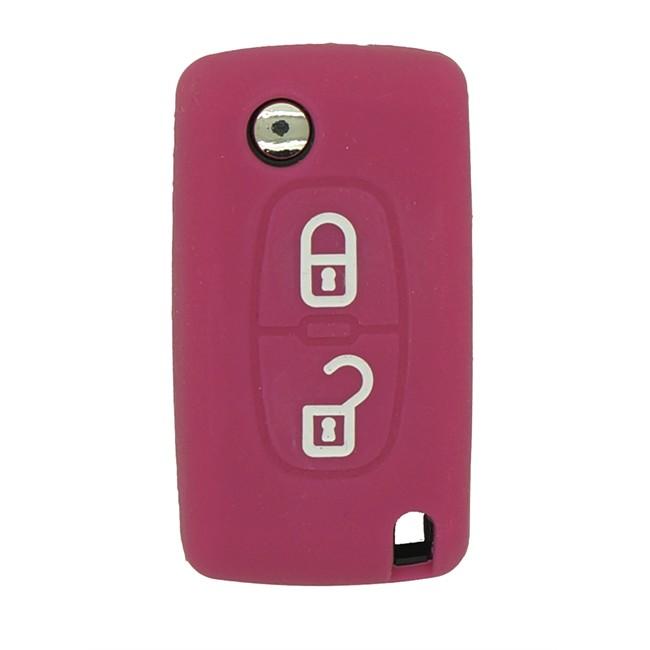 Housse de protection rose pour cl peugeot et citro n for Housse voiture rose