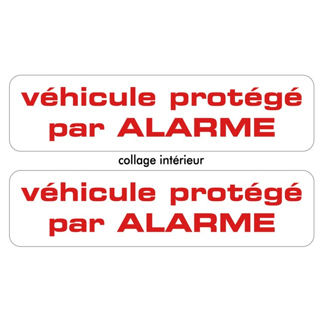 2 stickers autocollants cadox prot g par alarme. Black Bedroom Furniture Sets. Home Design Ideas