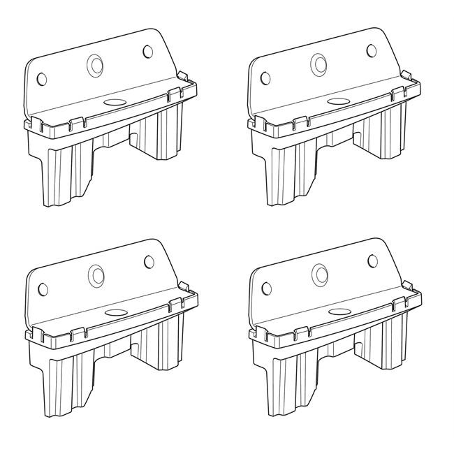 4 pattes de fixation norauto 02 - Barre de toit norauto ...