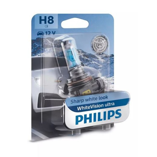 1 Ampoule Philips H8 Whitevision Ultra 12v 35w