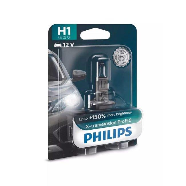 1 Ampoule Philips H1 X-treme Vision Pro150 12v 55w