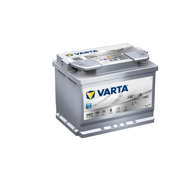 Batterie Varta D52 Start&Stop Silver Dynamic Agm 60 Ah - 680 A