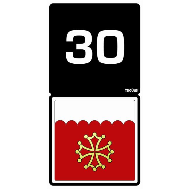 1 Sticker Autocollant Tdou D 233 Partement 30 Norauto Fr