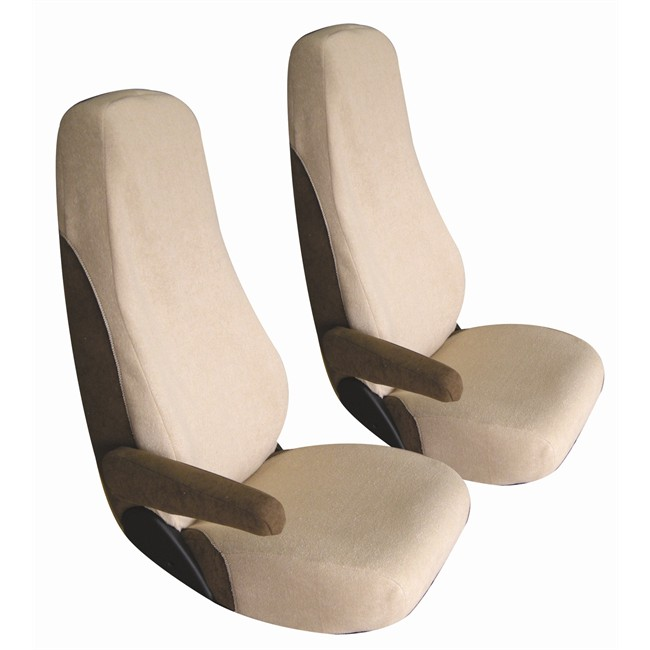 jeu de housses universelles si ges avant sp cial camping car bancarel beiges. Black Bedroom Furniture Sets. Home Design Ideas
