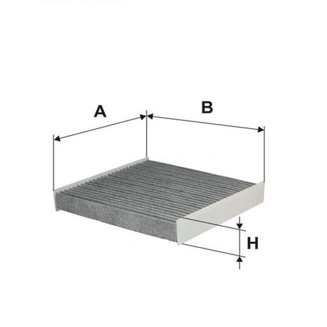 filtre d 39 habitacle charbon actif norauto fc142. Black Bedroom Furniture Sets. Home Design Ideas