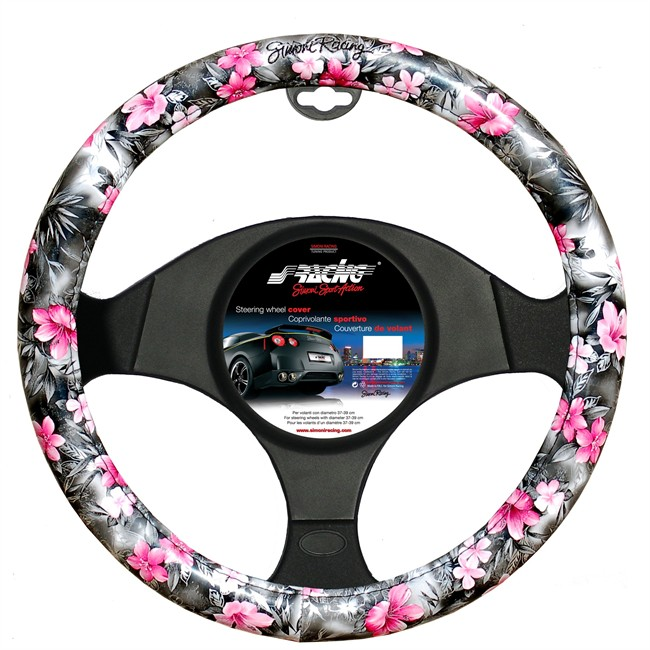 couvre volant simoni racing flowers. Black Bedroom Furniture Sets. Home Design Ideas
