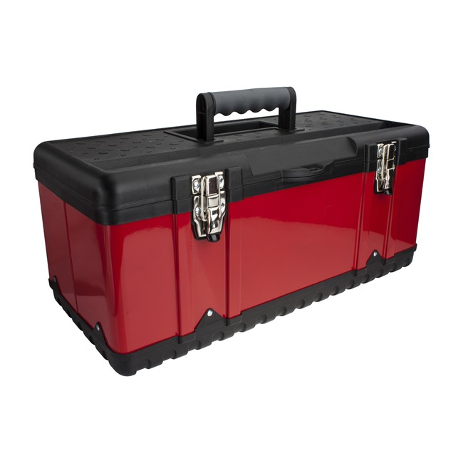 caisse outils en m tal 58 2 cm. Black Bedroom Furniture Sets. Home Design Ideas