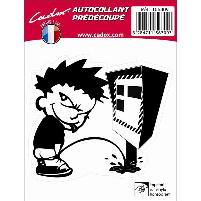 1 sticker autocollant cadox anti radar. Black Bedroom Furniture Sets. Home Design Ideas