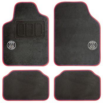 4 tapis voiture universels psg noir ganse bleue et rouge. Black Bedroom Furniture Sets. Home Design Ideas