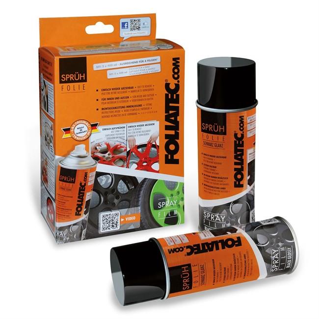 Bombe De Peinture Carbone Mat Foliatec 2083 2 X 400 Ml