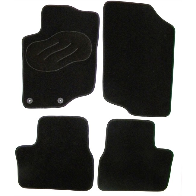 jeu complet de tapis sur mesure noir en moquette norauto. Black Bedroom Furniture Sets. Home Design Ideas
