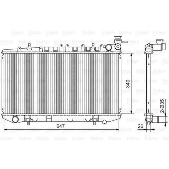 radiateur de refroidissement valeo r f rence 731090. Black Bedroom Furniture Sets. Home Design Ideas