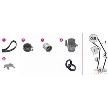 kit de distribution pompe eau hella 8mp 376 809 851. Black Bedroom Furniture Sets. Home Design Ideas