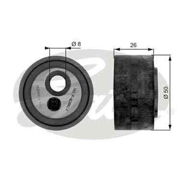 galet tendeur de courroie d 39 accessoires gates r f t36067. Black Bedroom Furniture Sets. Home Design Ideas