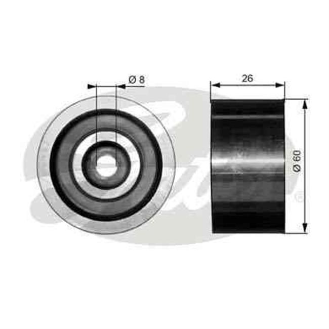 galet tendeur de courroie d 39 accessoires gates r f t36076. Black Bedroom Furniture Sets. Home Design Ideas