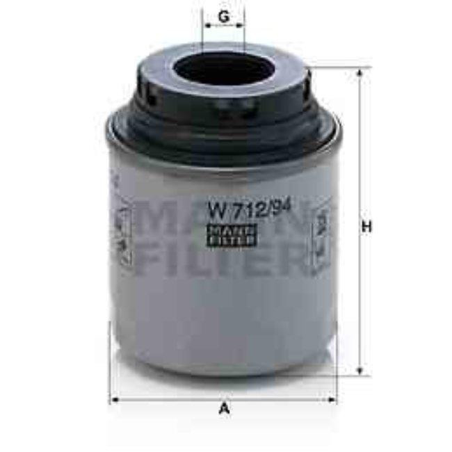 Filtre À Huile Mann-filter W712/94