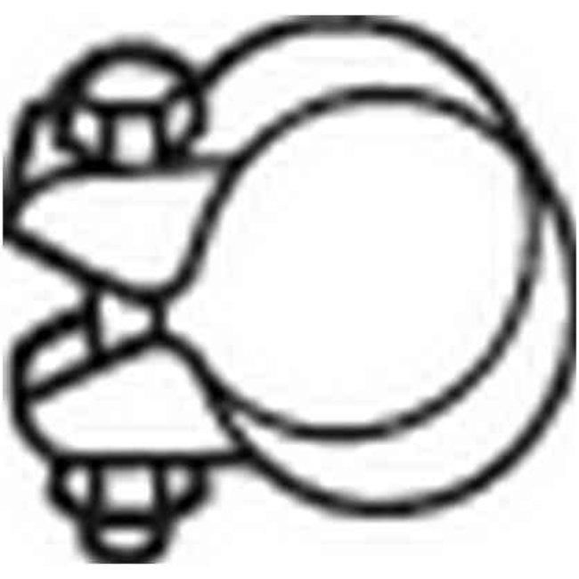 Collier Échappement Bosal 250-345